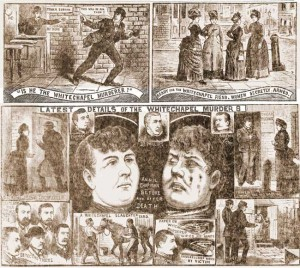 Illustrations concerning the murder of Annie Chapman.