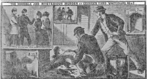 Press illutrations showing the finding of the body of Martha Tabram.
