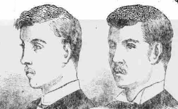 A press depiction of the Chadwick brothers.