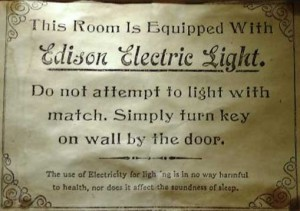 The electric light warning.