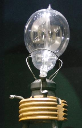 A large early light bulb.