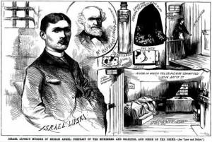 A Victorian press sketch showing murderer Israel Lipski.