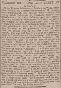 A neewpaper article about another of Sergeant Thicke's cases.