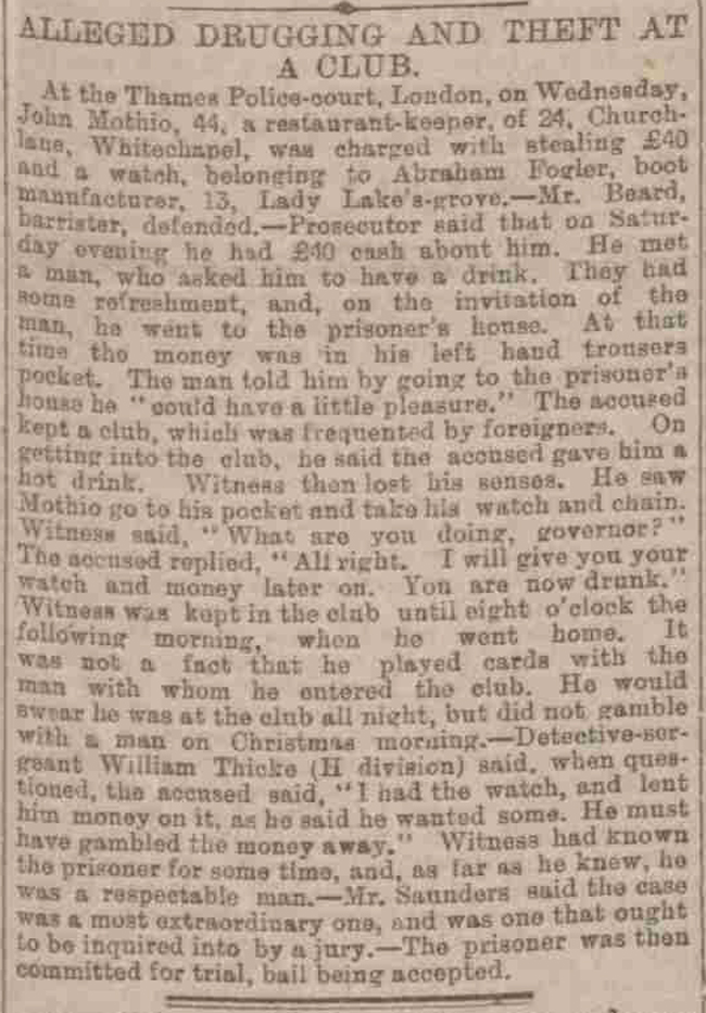 A newspaper article about another of Sergeant Thicke's cases.