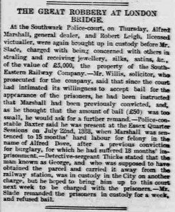 Another of the cases that Sergeant Thicke Worked on detailed in a press cutting.