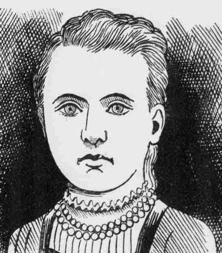 A press image showing a likeness of Amelia Jeffs