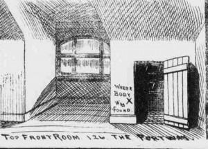 A view of the interior of the attic room in which Amelia Jeffs body was found.