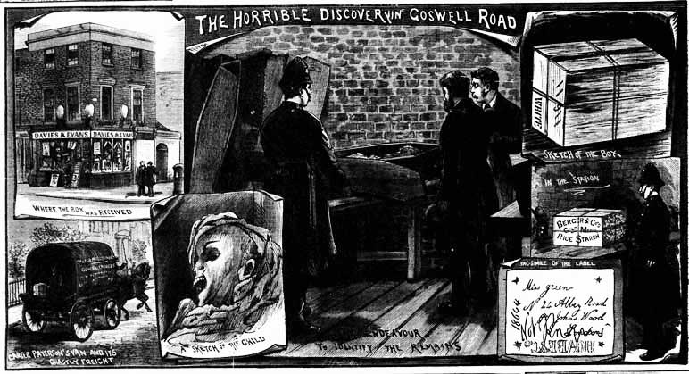 The Illustrated Police News Cover Illustration of the Case. Copyright, The British Library Board.