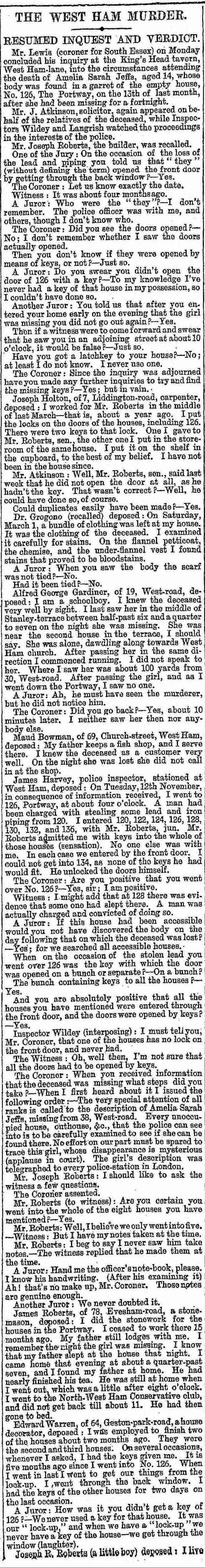 The final day of the Inquest Into Amelia jeffs Death.