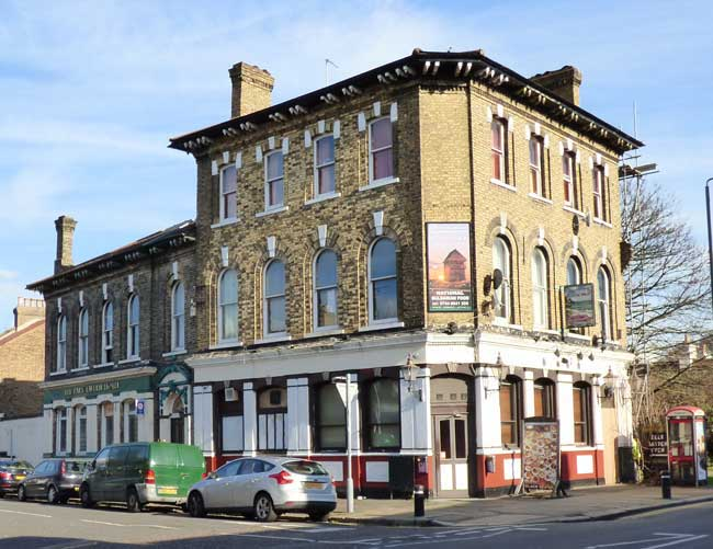 An exterior view of the Park Tavern, West Ham.