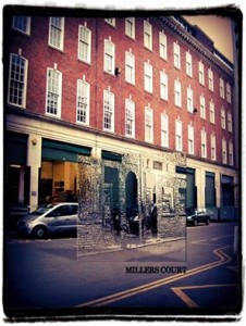 Miller's Court as it is now overlaid with what it was like at the time of Jack the Ripper.