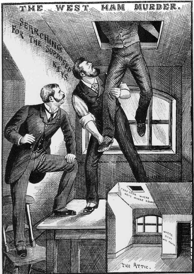 The Missing Keys Found. From The Illustrated Police News, 24th May 1890. Copyright, The British Library Board.