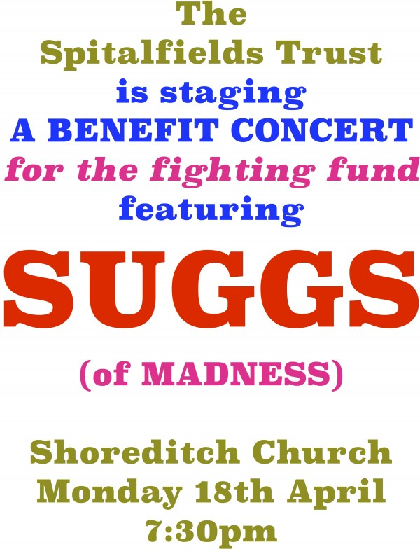 The poster for the benefit concert.