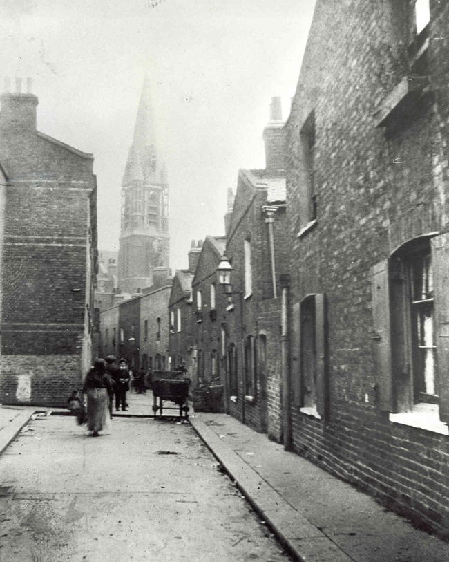 A view of St Mary's Church, Whitechapel.