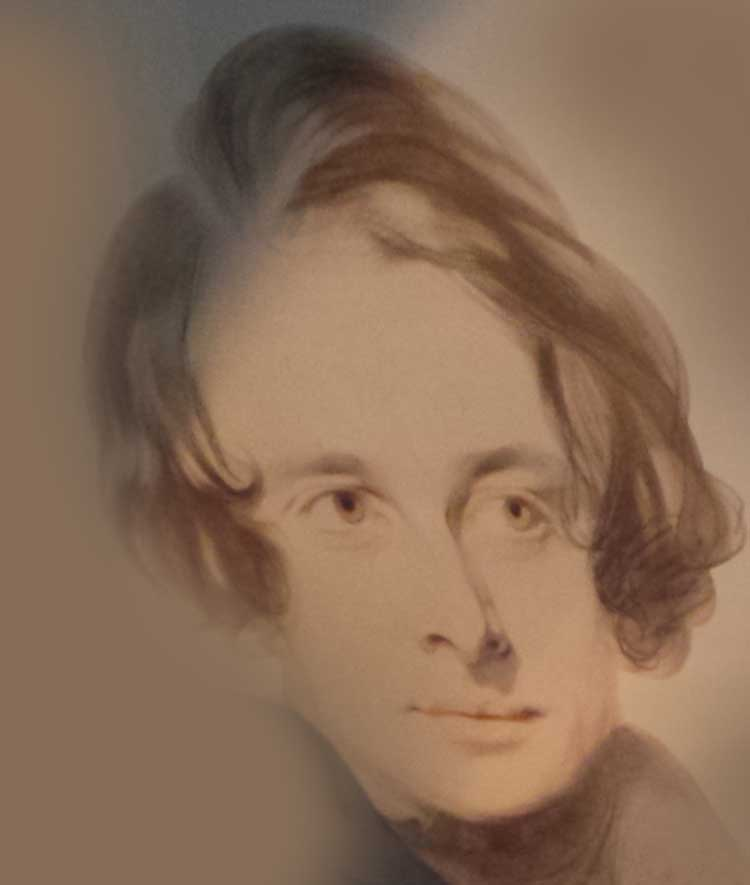 An image showing Charles Dickens around the time of Pickwick Papers.