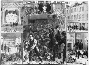 The Spitalfields Princes Street disastser depicted in the Illustrated Police News.