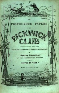 The front over of the first edition of the Pickwick Papers.