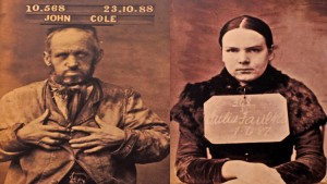 A male and female prisoner photographed prior to going in to prison.