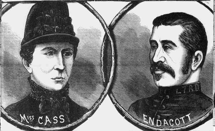 An Illustration showing Miss Cass and Police Constable Endacott.