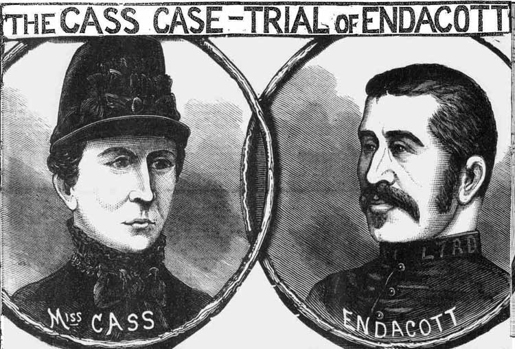 An illustration showing Elizabeth Cass and Police Constable Endacott.