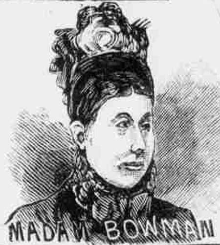 An illustration of Mrs Bowman.