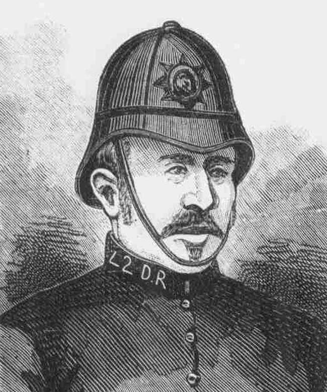 An illustration showing Police Constable Endacott.