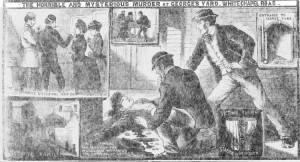 The Illustrated Police News Illustrations showing the scene of the murder of Martha Tabram.