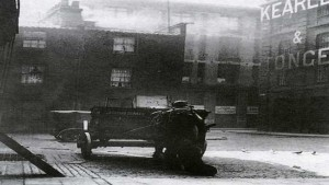 A photo of Mitre Square showing the corner where Catherine Eddowes was murdered.