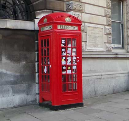 A red phone box.