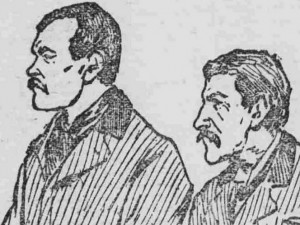 Newspaper sketch of Fowler and Milsom.
