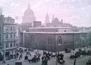A photograph showing the exterior of Newgate Prison.