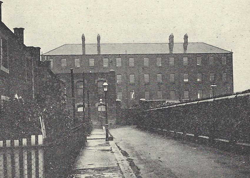An exterior view of the workhouse at Poplar.