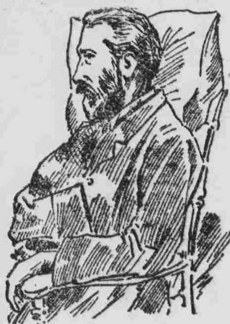 A sketch showing William Seaman in court.
