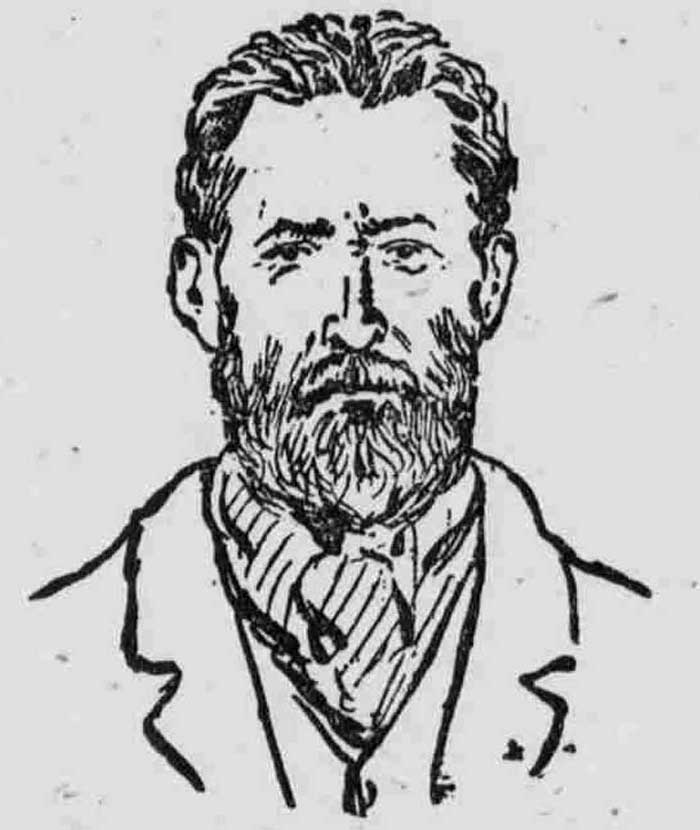A sketch showing the murderer William Seaman.