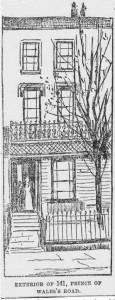 A sketch showing the exterior of 141, Prince of Wales Road.