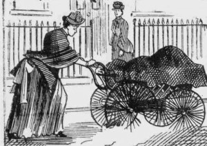 Mrs Annie Gardiner sees Mary Pearcey struggling to push the perambulator.