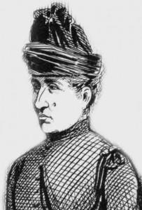 A sketch showing Clara Hogg.