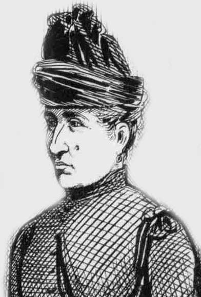 A sketch showing Clara Hogg.