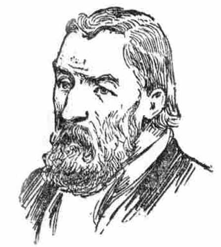 A press illustration showing a bearded Frank Hogg.