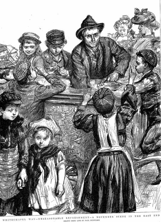 The sketch showing the Ice Cream Seller.