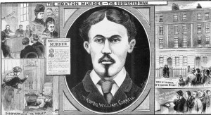 Illustrations in the Illustrated Police News depicting the murder of Lydia Green.