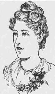 A sketch showing Mary Pearcey