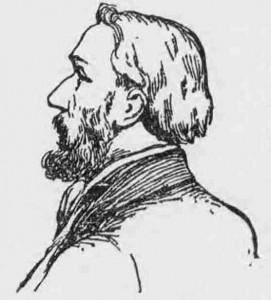 A sketch portrait of Frank Hogg.