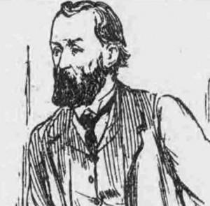 A sketch showing Mr Frank Hogg.