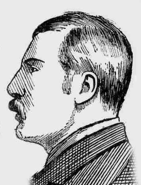 A sketch showing John Charles Pearcey.