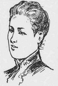 A sketch showing Phoebe Hogg in life.