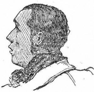 A sketch showing Oliver Smith.