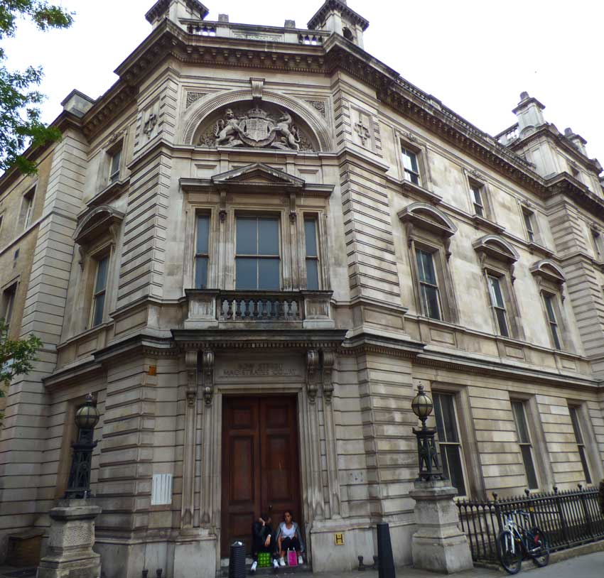 An external view of the former Bow Street Magistrates Court.