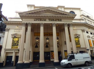 A photograph of the portico of the Lyceum Theatre.