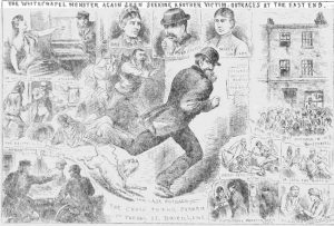 Illustrations showing the attack on Annie Farmer.